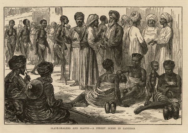 A Street Scene in Zanzibar (The Graphic, 1873)